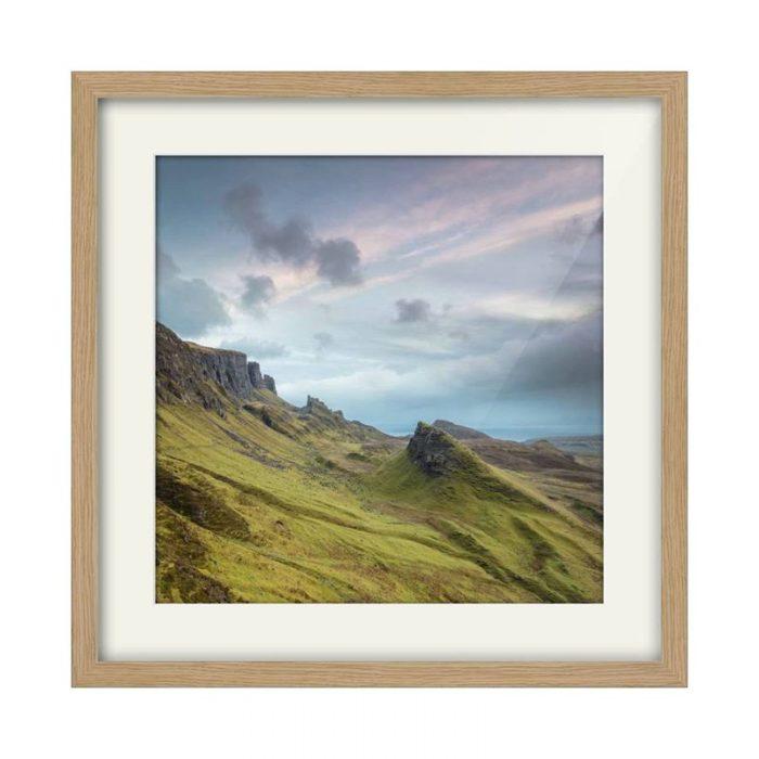 Quiraing Isle of Skye Oak Framed Print Square